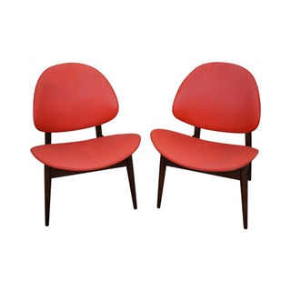 Kodawood Mid-Century Clam Shell Chairs - Pair