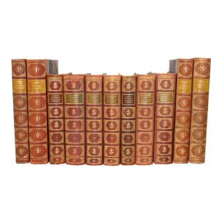 Antique Leather-Bound Books S/11