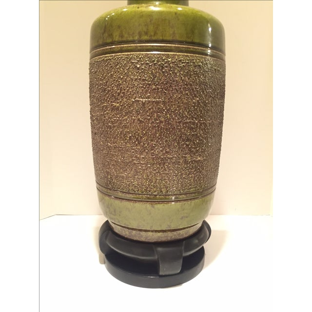 Vintage Green Glazed Lamp - Image 5 of 6