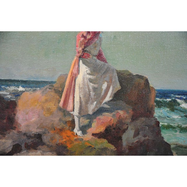 """Woman Looking at Sea,"" Painting by A. Neogrady - Image 5 of 9"