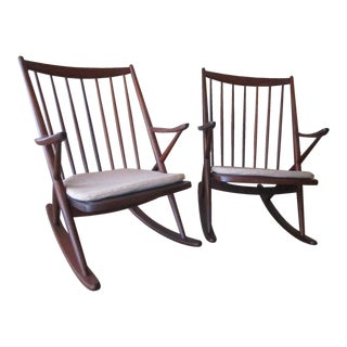 Danish Rocking Chairs by Frank Reenskaug for Bramin Mobler