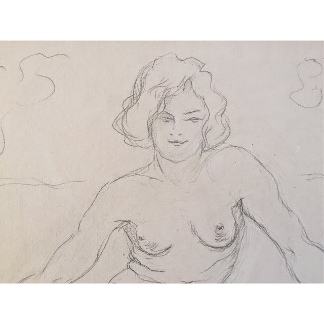 Image of Vintage Drawing Seated Nude 1930