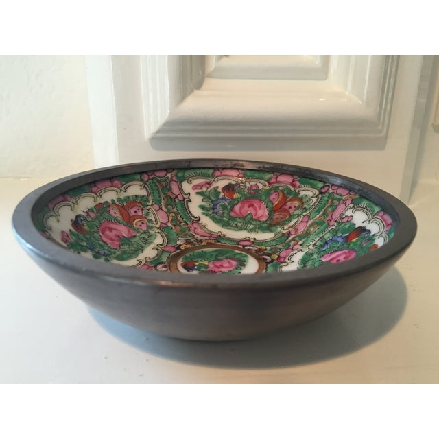 Hand Painted Ceramic & Pewter Dish - Image 9 of 10