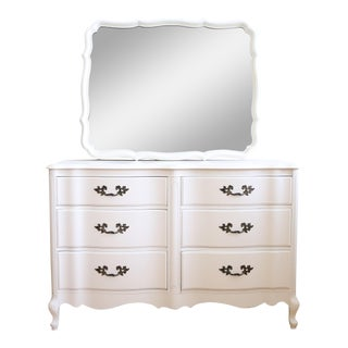 Vintage Shabby Chic Dresser With Mirror