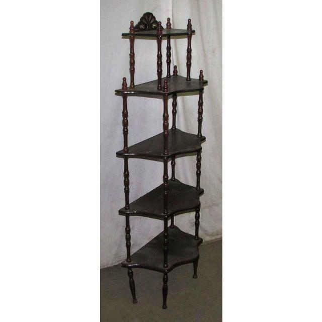 Dark Wooden 5 Tier Shelf - Image 10 of 10