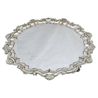 Oversize English Silver-Plate Salver