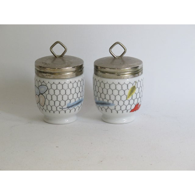 Fornasetti-Style Egg Coddlers - a Pair - Image 2 of 5
