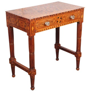Folk Art Parquetry Side Table