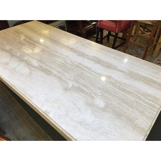 Image of Italian Travertine Dining Table