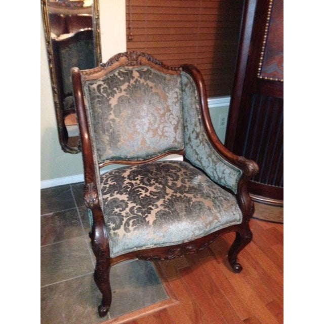 Image of Handcrafted French Louis XV Style Bergere Chair