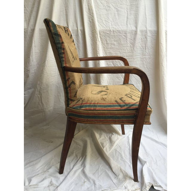 Image of French Chair Reupholstered in Vintage Grain Bag #4
