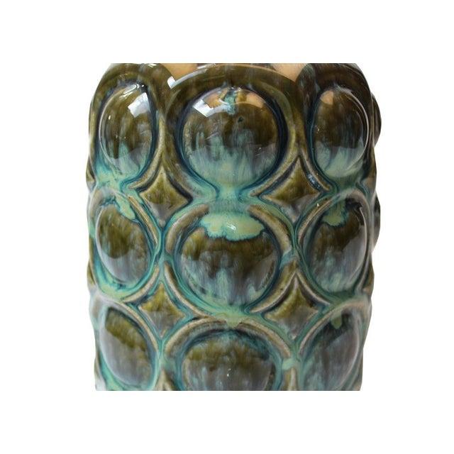 Vintage Ceramic Drip Glaze Lamp - Image 3 of 4
