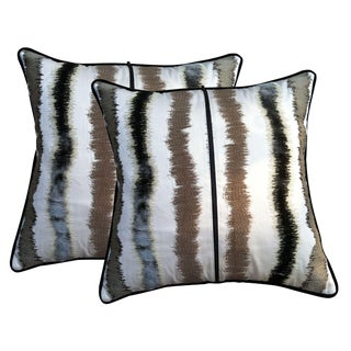 Iridescent Striped Throw Pillows - A Pair