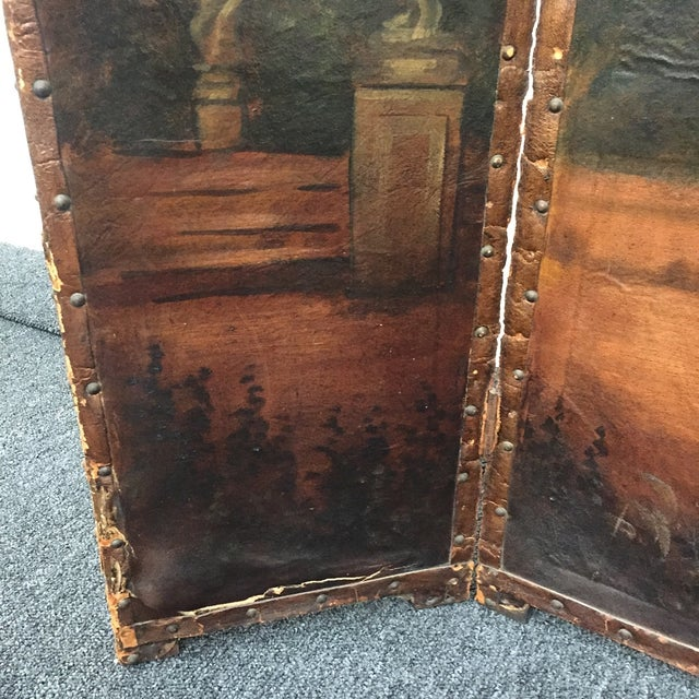 Antique Painted Fireplace Screen - Image 7 of 9
