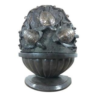 Swimming Sea Turtles Bronze Fountain Sculpture
