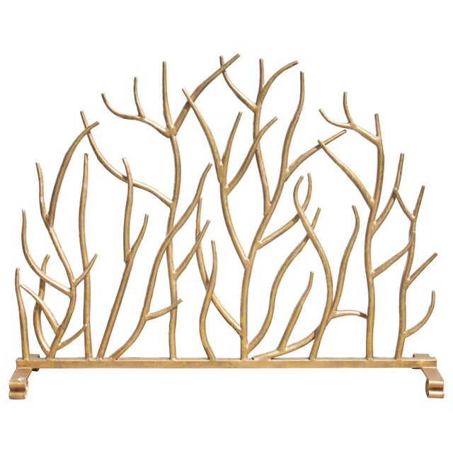 Twig Gilt Painted Fire Screen - Image 1 of 6