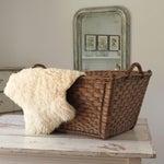 Image of Vintage Wicker Laundry Basket