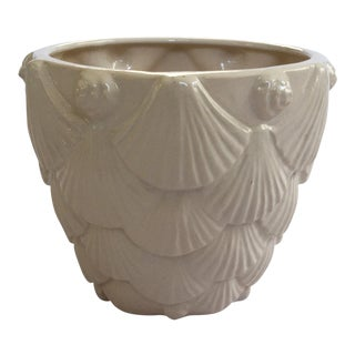 Vintage Whittier Potteries White Seashell Planter
