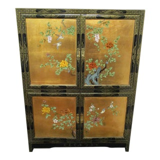 Asian Style Gold Leaf Hand Painted Armorie