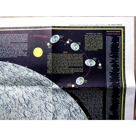 """1969 National Geographic """"The Earth's Moon"""" Map - Image 7 of 8"""