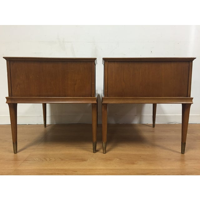 Mid Century Sculpted End Tables - a Pair - Image 6 of 11