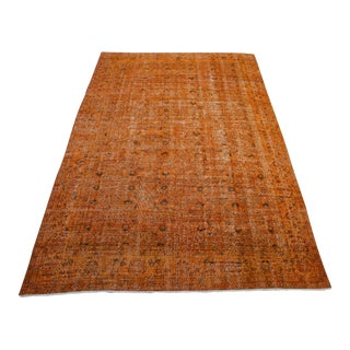 "Orange Turkish Overdid Rug - 6'8"" X 10'8"""