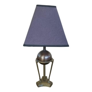 Art Deco Bronze Table Lamp