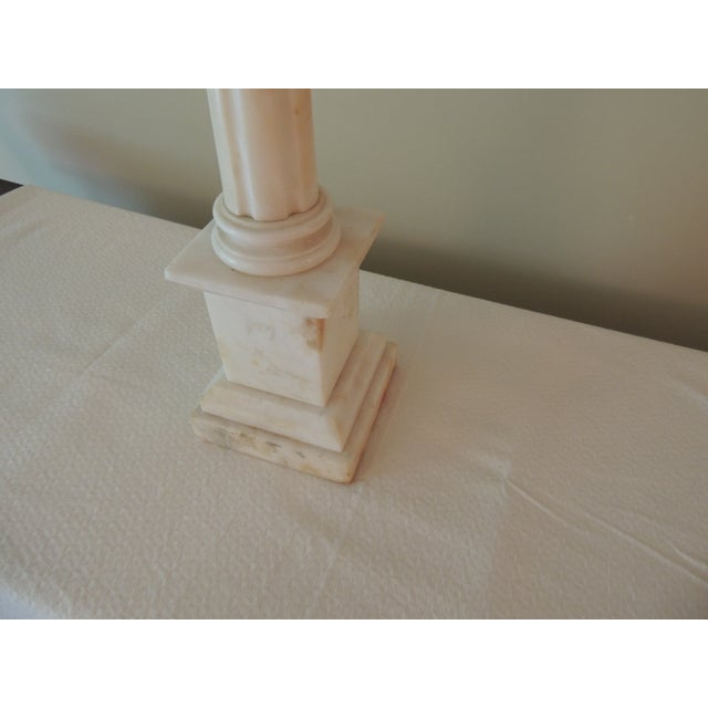 Antique French Marble Column Lamp - Image 4 of 5