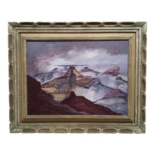 Vintage Canyons in Dusky Colors Landscape Painting