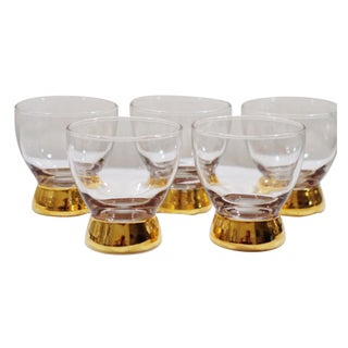 Gold Dipped Glasses - Set of 5