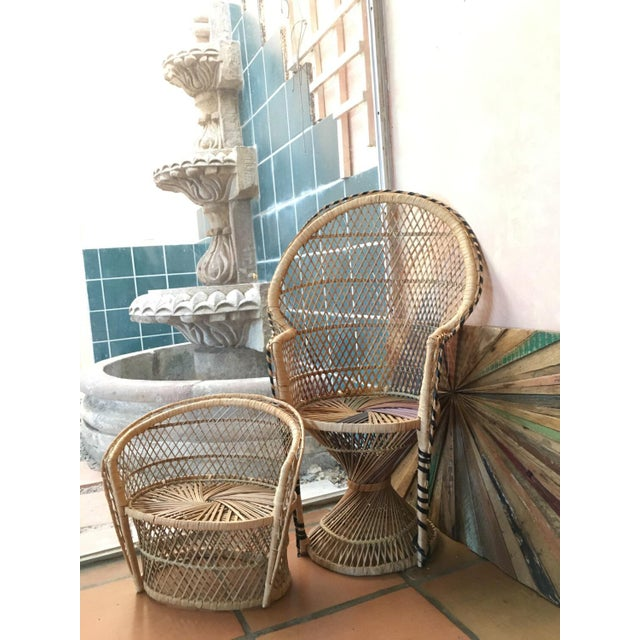 Image of Bohemian Plant Stand Peacock Chair