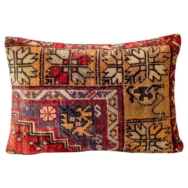 Image of Vintage 1950's Wool Hand Woven Pillow