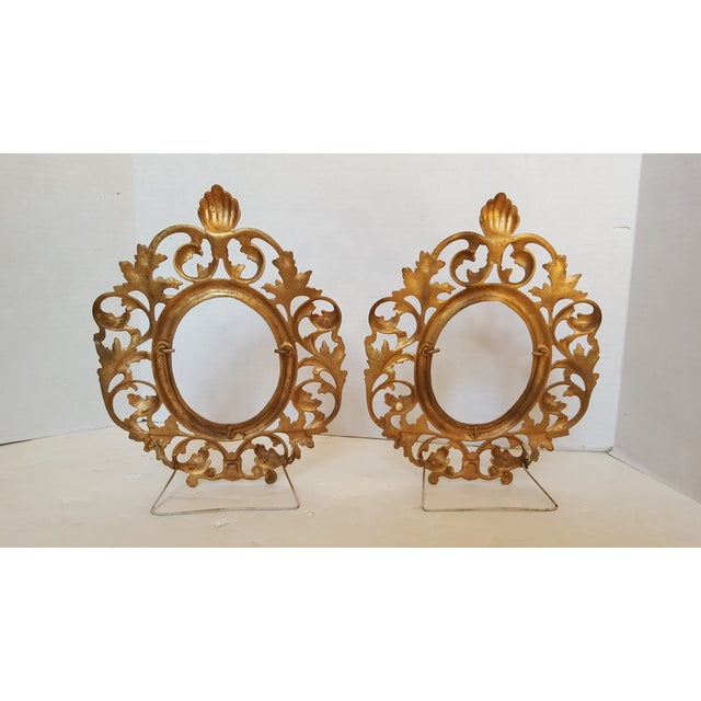 Image of Bronze Picture Frames - Pair
