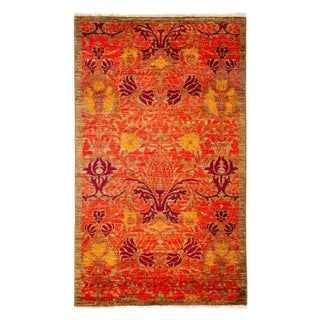"""Arts & Crafts Hand Knotted Area Rug - 3'3"""" X 5'4"""""""