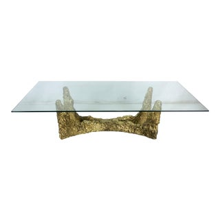 Brutalist Bronze Coffee Table in the Style of Paul Evans