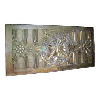 Large Art Deco Bronze Panel
