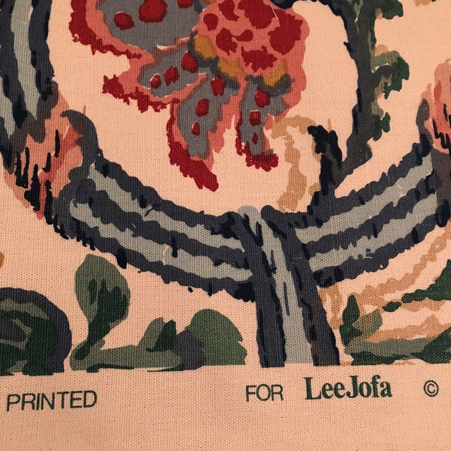 """Lee Jofa's """"New Sevilla"""" in Multi Linen Fabric - Almost 3 Yds - Image 5 of 7"""