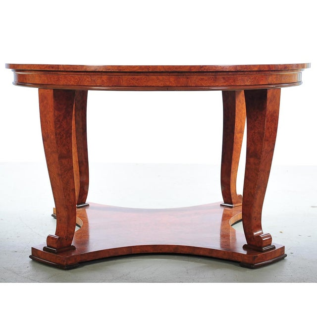 """Image of Biedemeier 51"""" Large Round Center Table"""