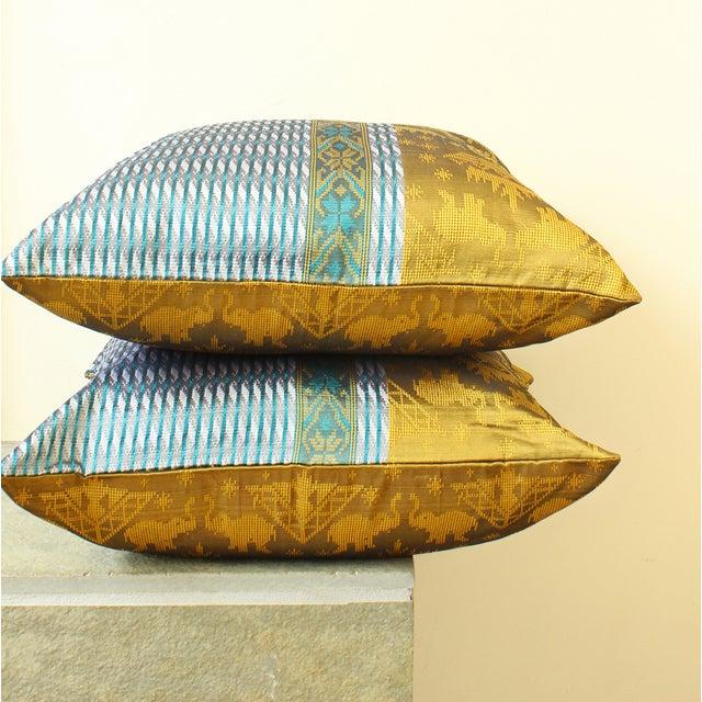 Brand New Golden Ganesh Javanese Boho Pillow - Image 4 of 7