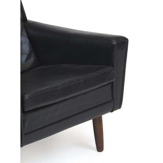 Mid Century Black Leather Lounge Chair Chairish