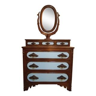 Antique Victorian 3 Over Three Dresser