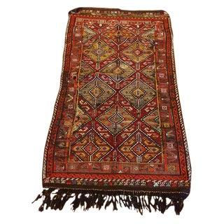 Vintage Turkish Anatolian Cicim Rug - 3′3″ × 5′1″