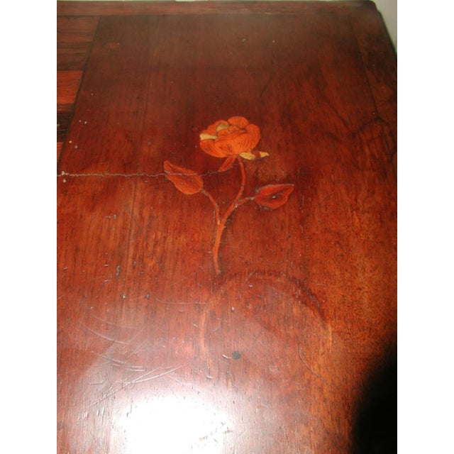 C.1850 French Game Table Inlaid Walnut Fruitwood - Image 10 of 10