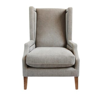 Clyde Linen High Back Occasional Chair