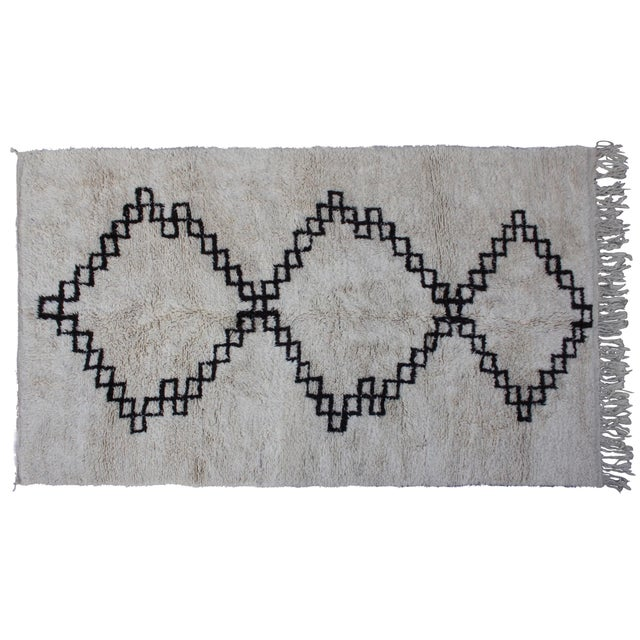 Vintage Moroccan Beni Ourain Rug - 10'6'' X 6'5'' - Image 1 of 4