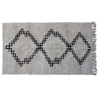 Vintage Moroccan Beni Ourain Rug - 10'6'' X 6'5''