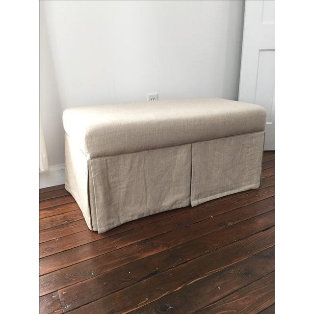 Linen Upholstered Storage Bench Chairish