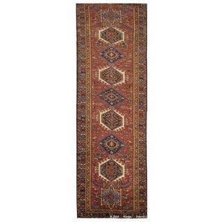 Vintage Handmade Persian Karaje Rug - 3'6''x14'1''