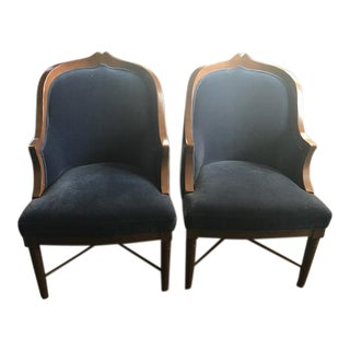 Curved Back Side Chairs - A Pair