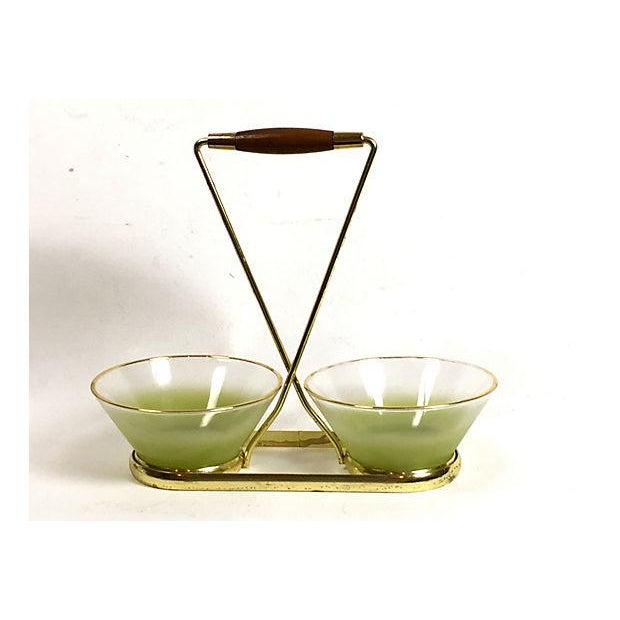 Blendo Green Frosted Glass Serving Set - Image 2 of 5